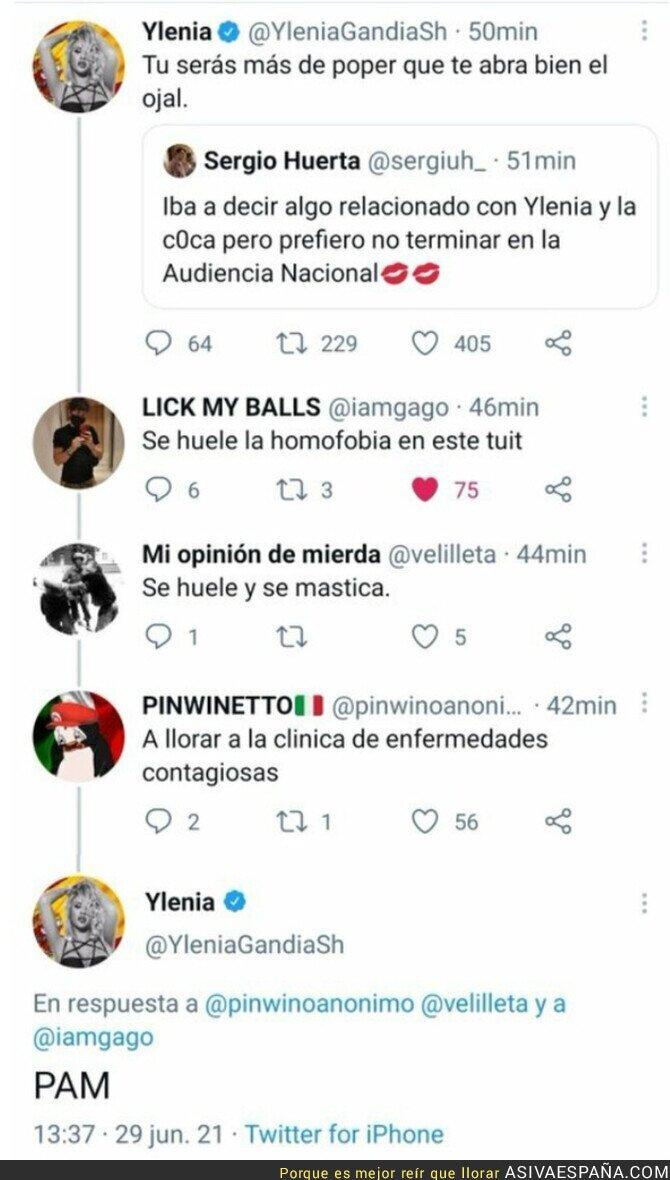 815867 - Ylenia Padilla saca su peor cara con estos miserables tuits tras la Ley Trans