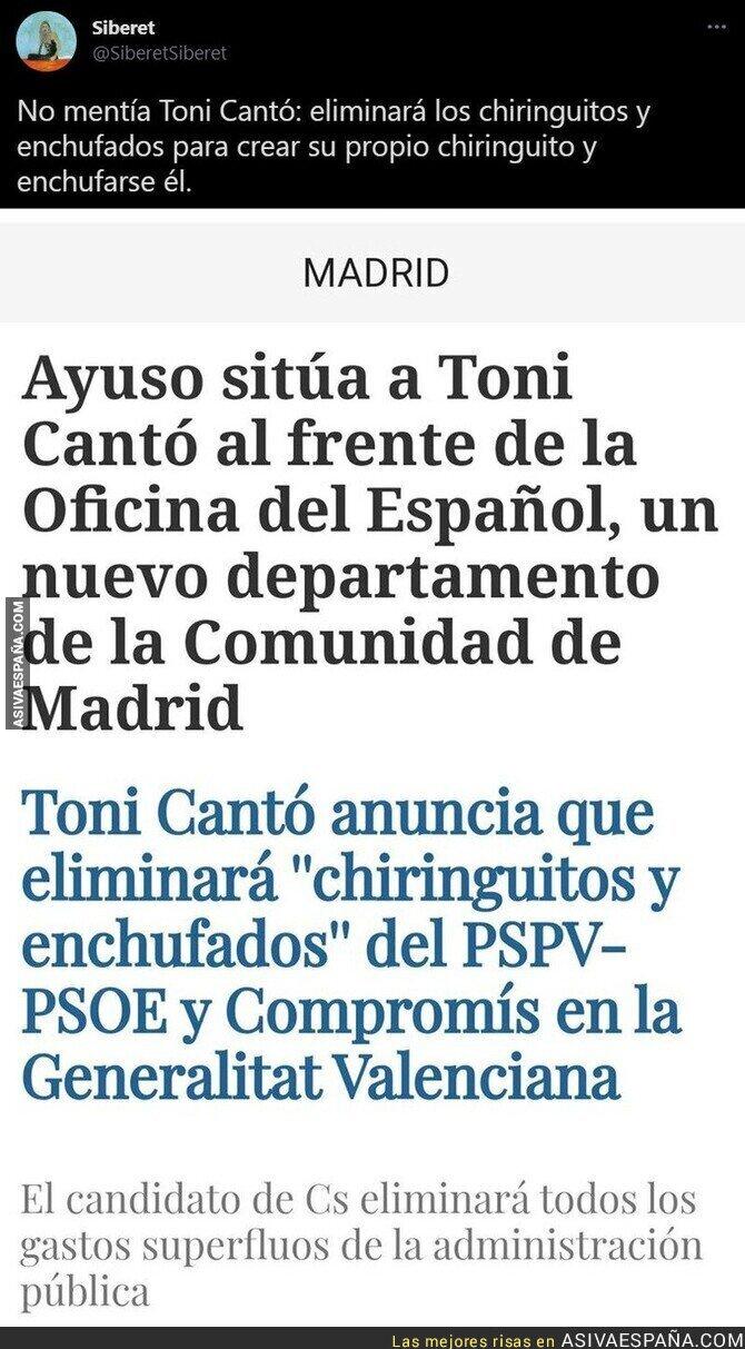 816724 - Menudo listo es Toni Cantó