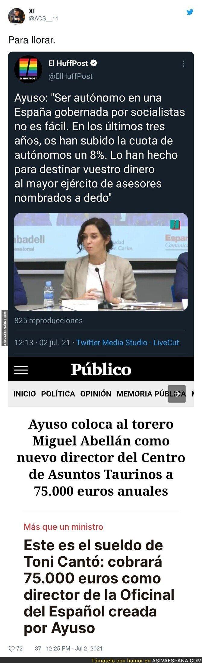 819377 - Es para llorar viendo el historial de Isabel Díaz Ayuso