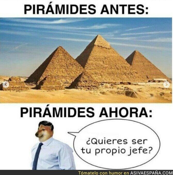 820011 - Las pirámides han evolucionado