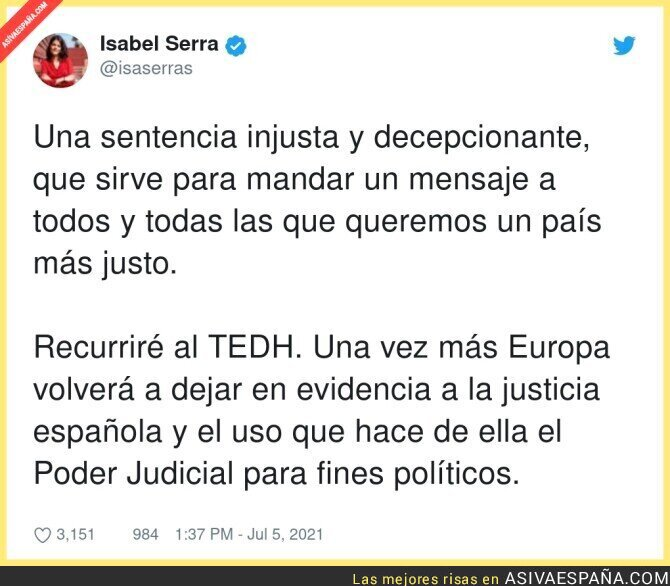 822684 - La injusticia con Isa Serra
