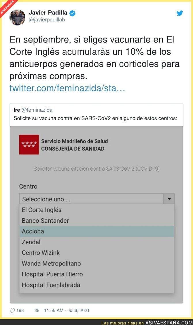 824613 - Es surrealista ver esto entre los centros para vacunarte en Madrid