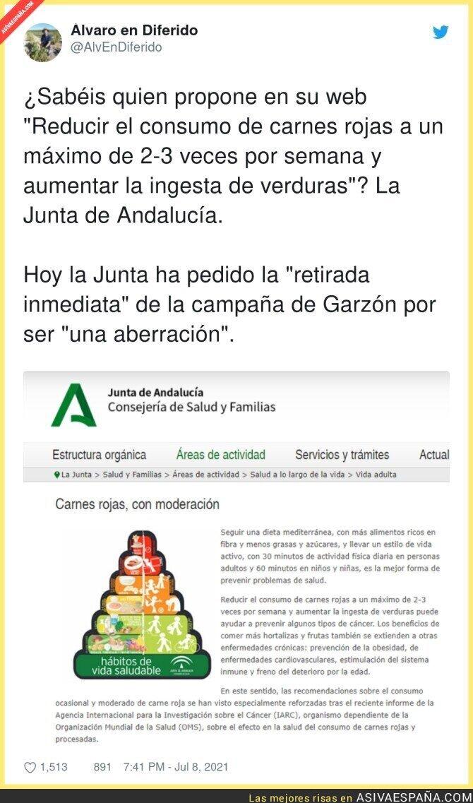 828769 - La desvergüenza total de la Junta de Andalucía cuando ellos proponen lo mismo que Alberto Garzón