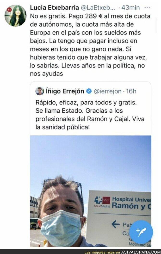 835165 - Un buen repaso a Íñigo Errejón de parte de Lucía Etxebarría