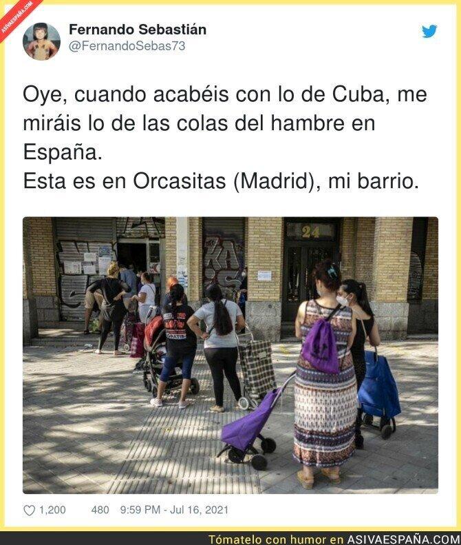 840387 - Todos centrados en Cuba y en España no estamos para dar lecciones...