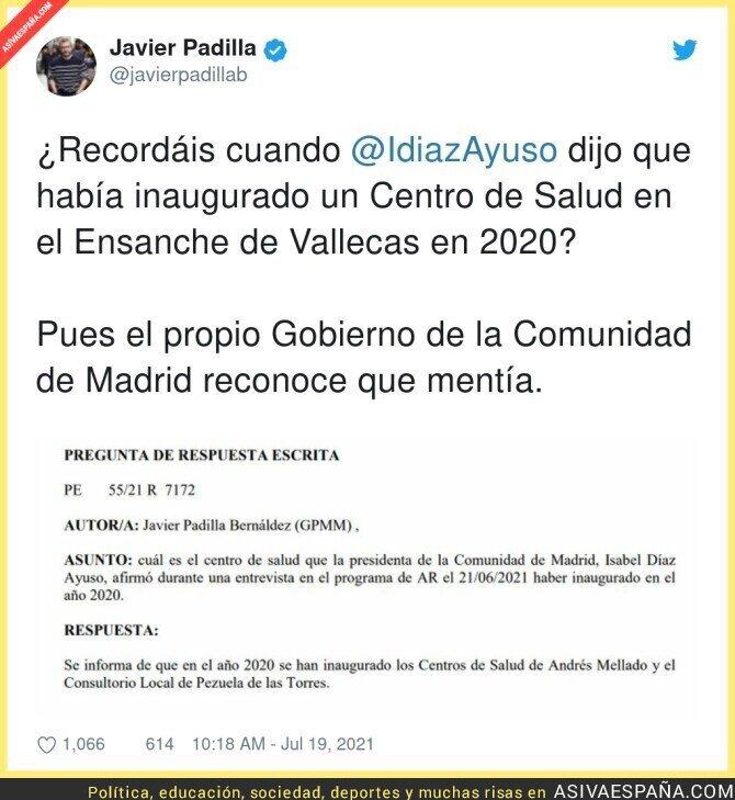 841989 - Isabel Díaz Ayuso mintiendo en la cara a la gente