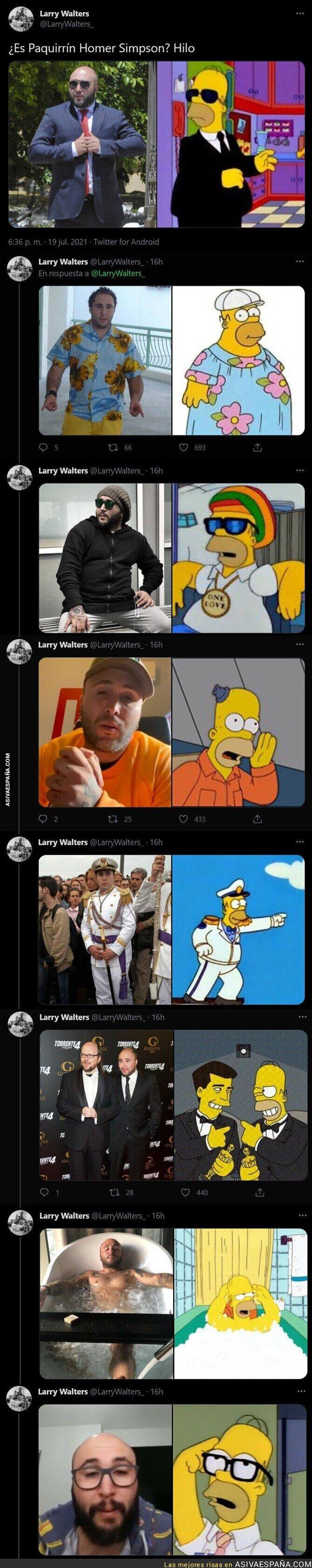 842257 - Todas estas imágenes hacen intuir que el personaje de Homer Simpson está bassado en Kiko Rivera