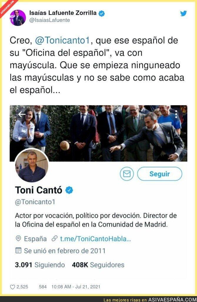 844543 - Toni Cantó ninguneando al ESPAÑOL