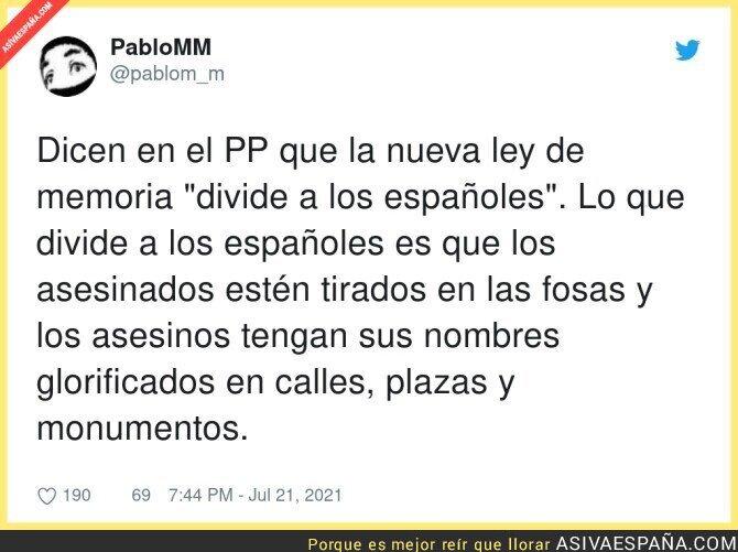 845024 - La división de los españoles según el PP