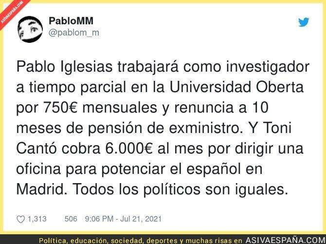 845172 - Pablo Iglesias es de los políticos más dignos que hemos tenido en España