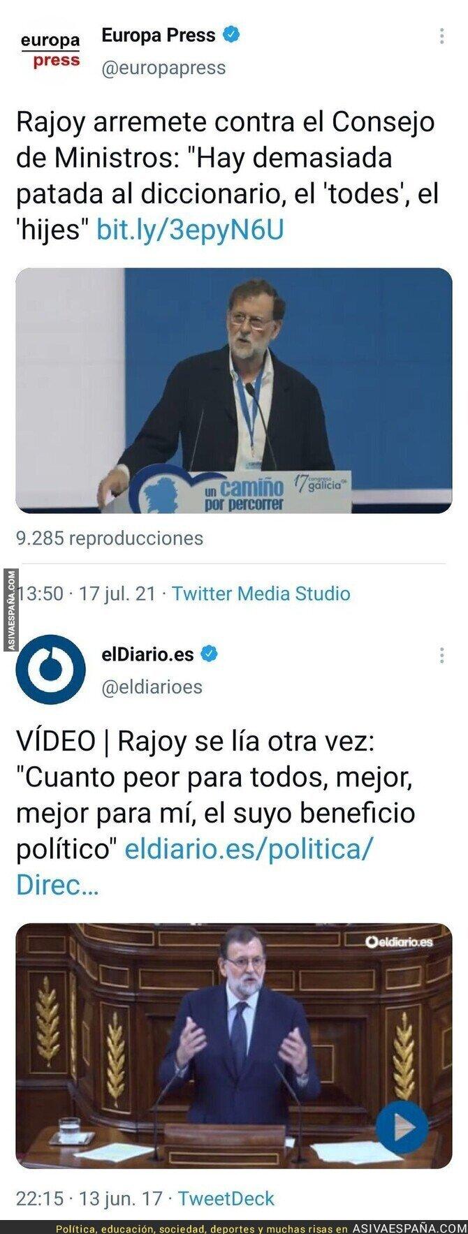 845491 - Rajoy se convierte en el hazmerreír de todos por quejarse sobre los políticos de ahora