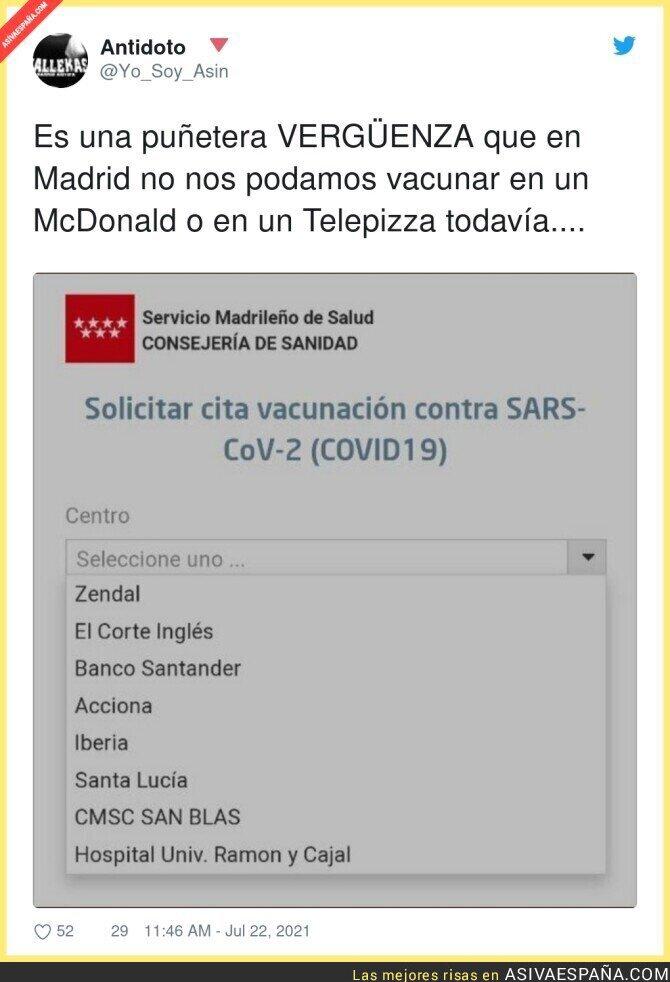 845825 - Tiempo al tiempo en Madrid se terminarán vacunando en un Dunkin' Donuts