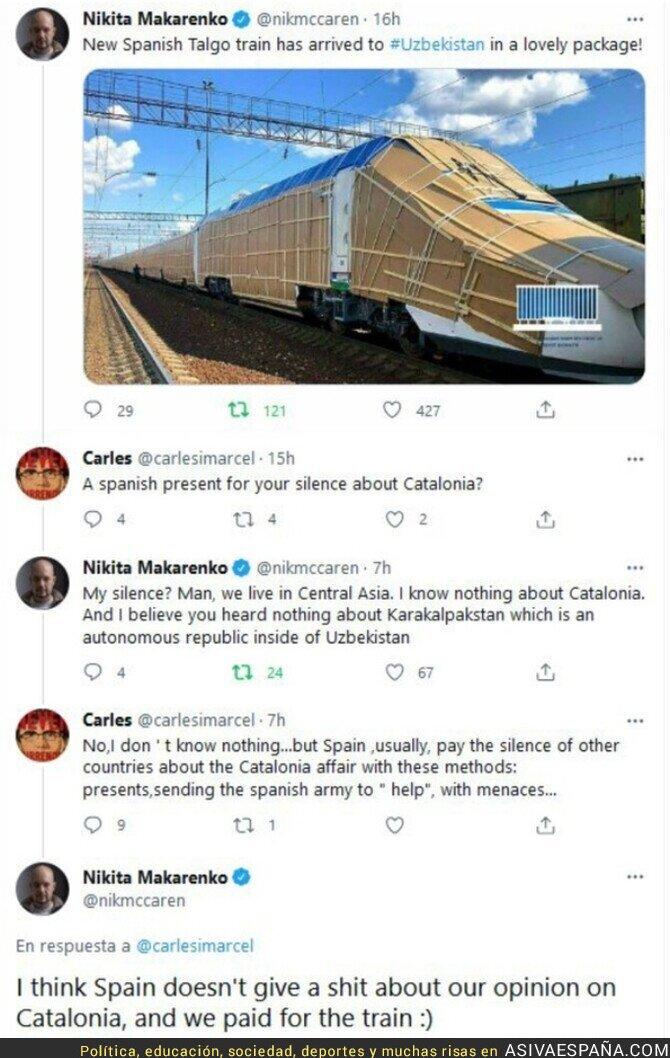 846812 - Esta conversación entre un independentista catalán y un periodista de Uzbekistán no tiene desperdicio