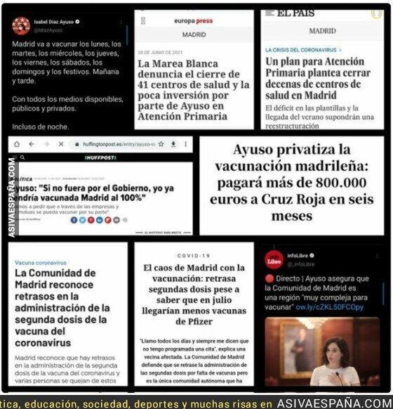 848779 - La evolución de Isabel Díaz Ayuso y su plan de vacunación en Madrid