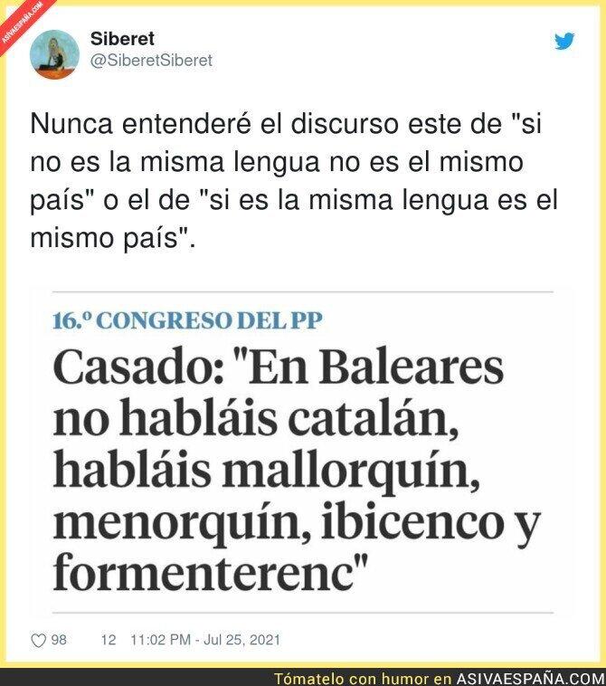 849800 - Pablo Casado despreciando el catalán