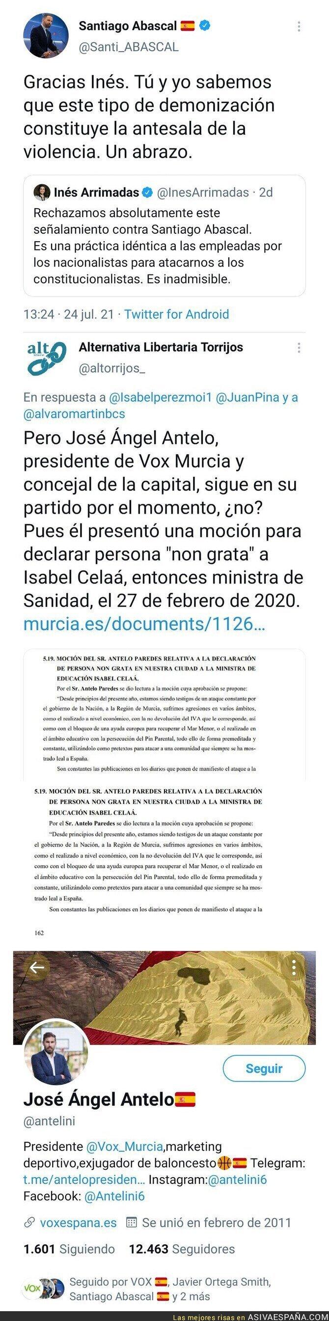 850699 - VOX denuncia lo mal que está hacer a alguien 'persona non grata' y esto hicieron ellos en Murcia en 2020