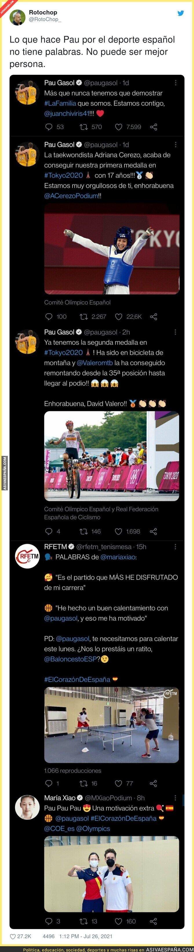 850884 - Estos tuits de Pau Gasol demuestran que es una de las mejores personas del mundo del deporte