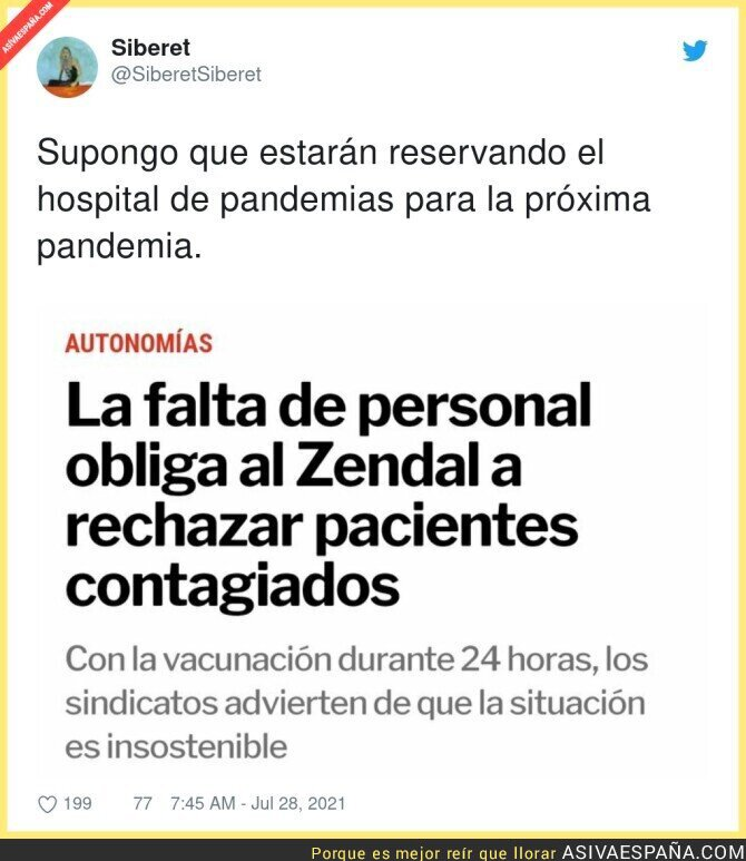 852347 - Buenísima gestión del Hospital Isabel Zendal