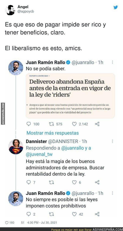 855970 - Así es Juan Ramón Rallo ante la noticia de Deliveroo