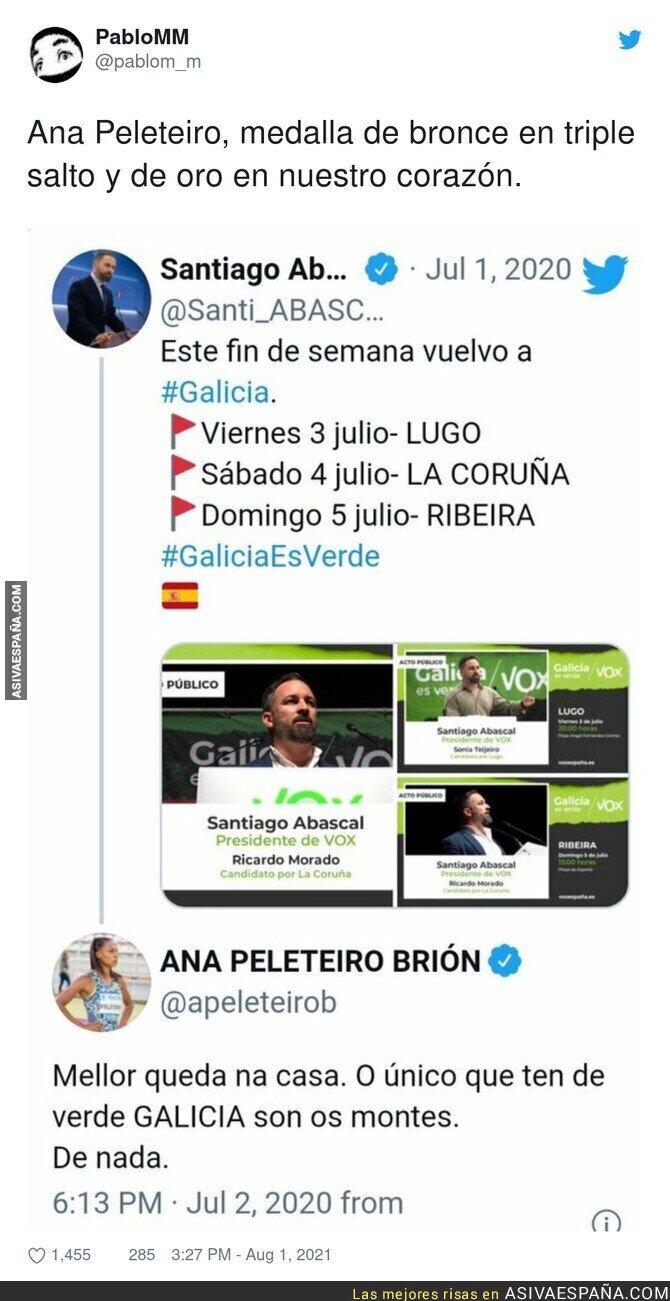 858260 - Así calló Ana Peleteiro a Santiago Abascal en el pasado