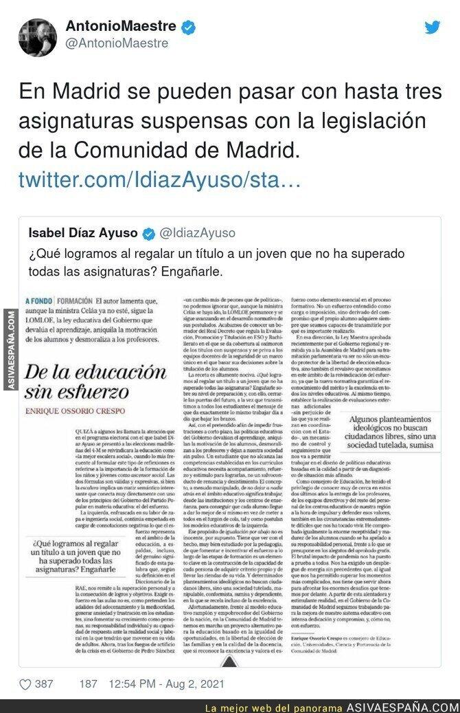 859198 - Madrid no está para dar ejemplo en educación