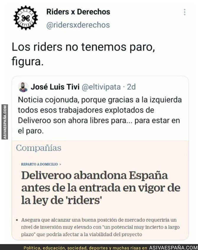 859551 - Los riders no tienen derechos