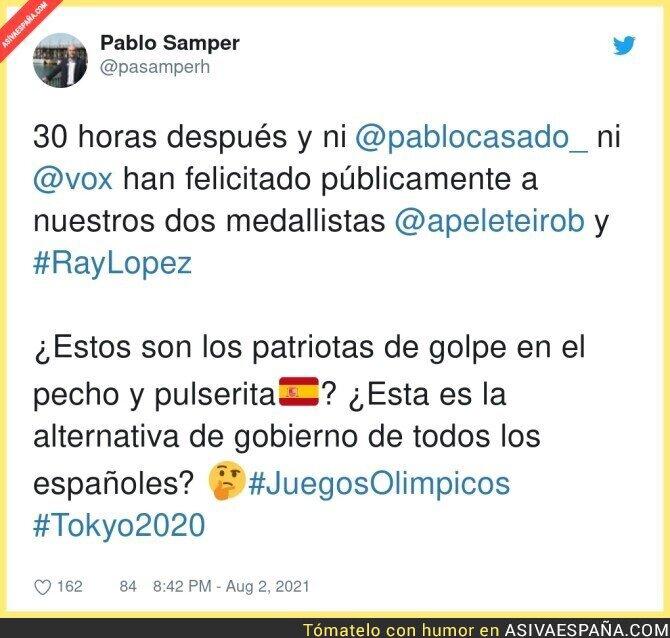 860129 - Los de color no se merecen un enhorabuena de los patriotas españoles