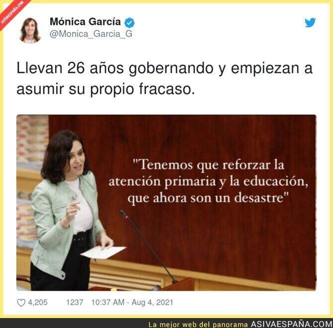 861615 - Isabel Díaz Ayuso se da cuenta tarde de su gran fallo