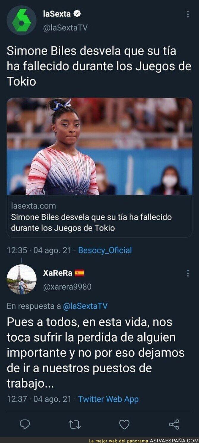 862676 - Anuncian que Simone Biles perdió a una tía fallecida y debe aguantar comentarios de este tipo...