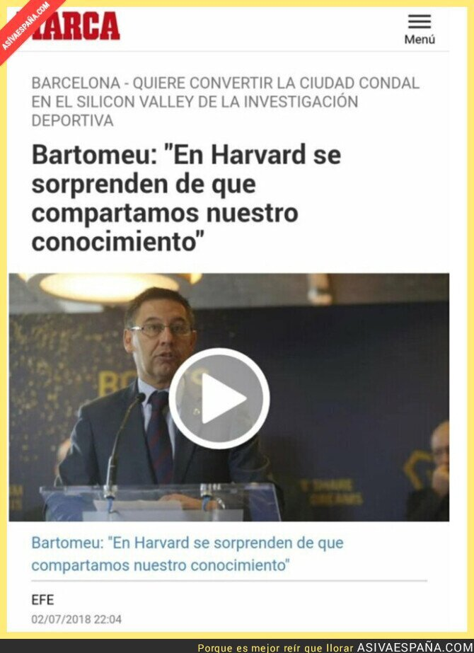 865011 - En Harvard deben estar alucinando con los 480 millones de pérdidas por culpa de Bartomeu
