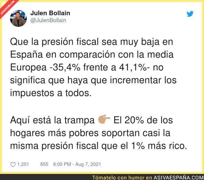 867107 - Sobre la presión fiscal en España
