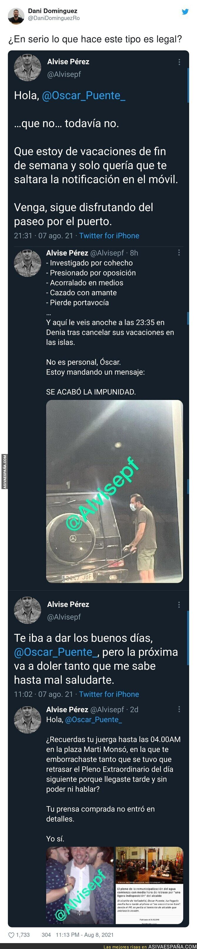 867496 - Lo que hace Alvise Pérez contra los políticos es acoso y alguien debería pararle los pies