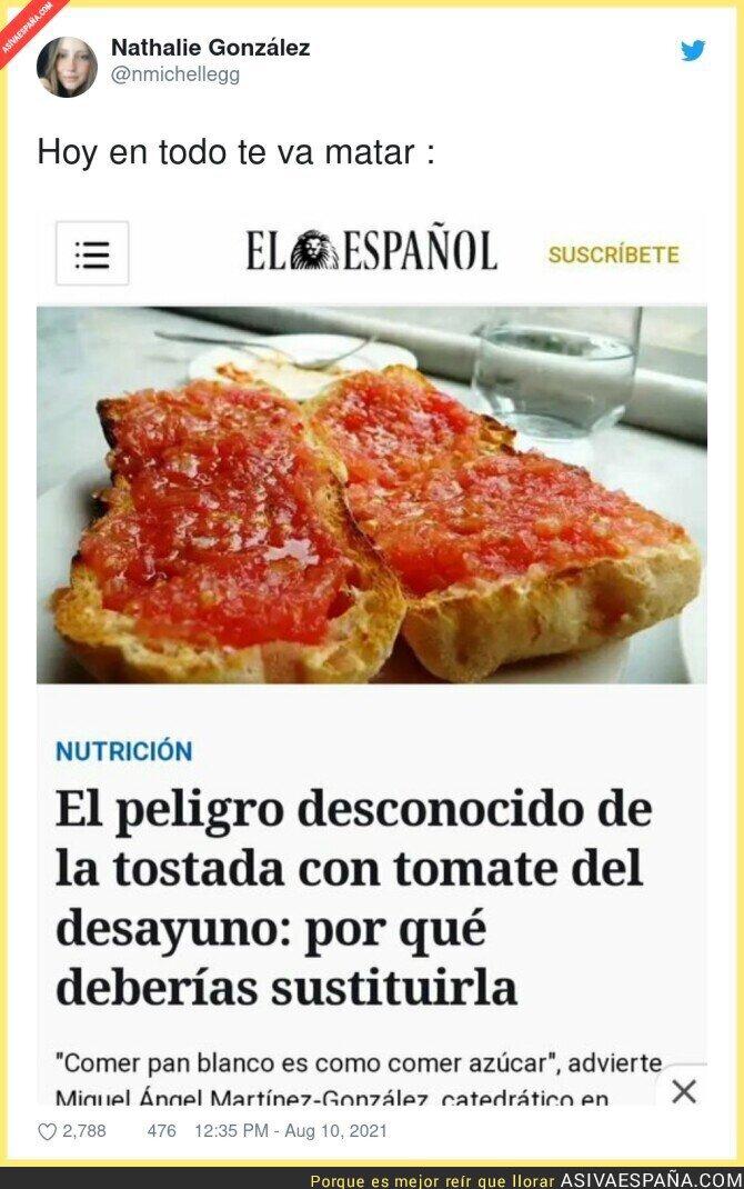 869085 - Ahora molesta hasta el pan con tomaquet...