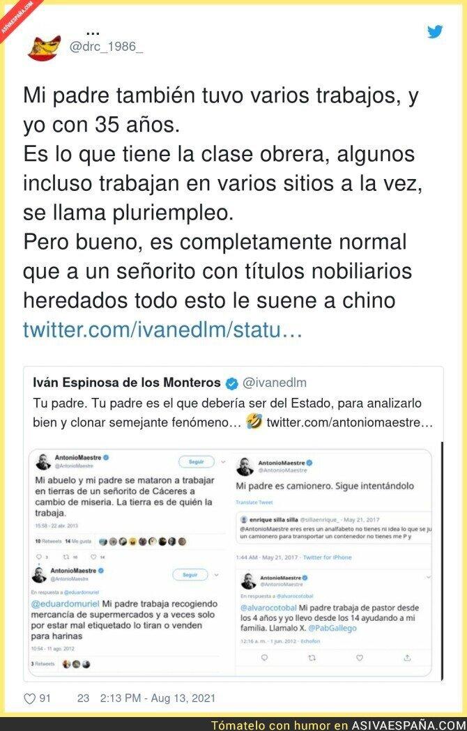 872154 - Iván Espinosa de los Monteros no entiende como funciona la vida cuando le dan todo regalado