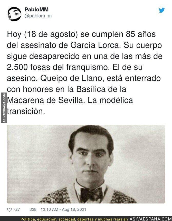877185 - Que nunca se olvide el asesinato de Federico García Lorca