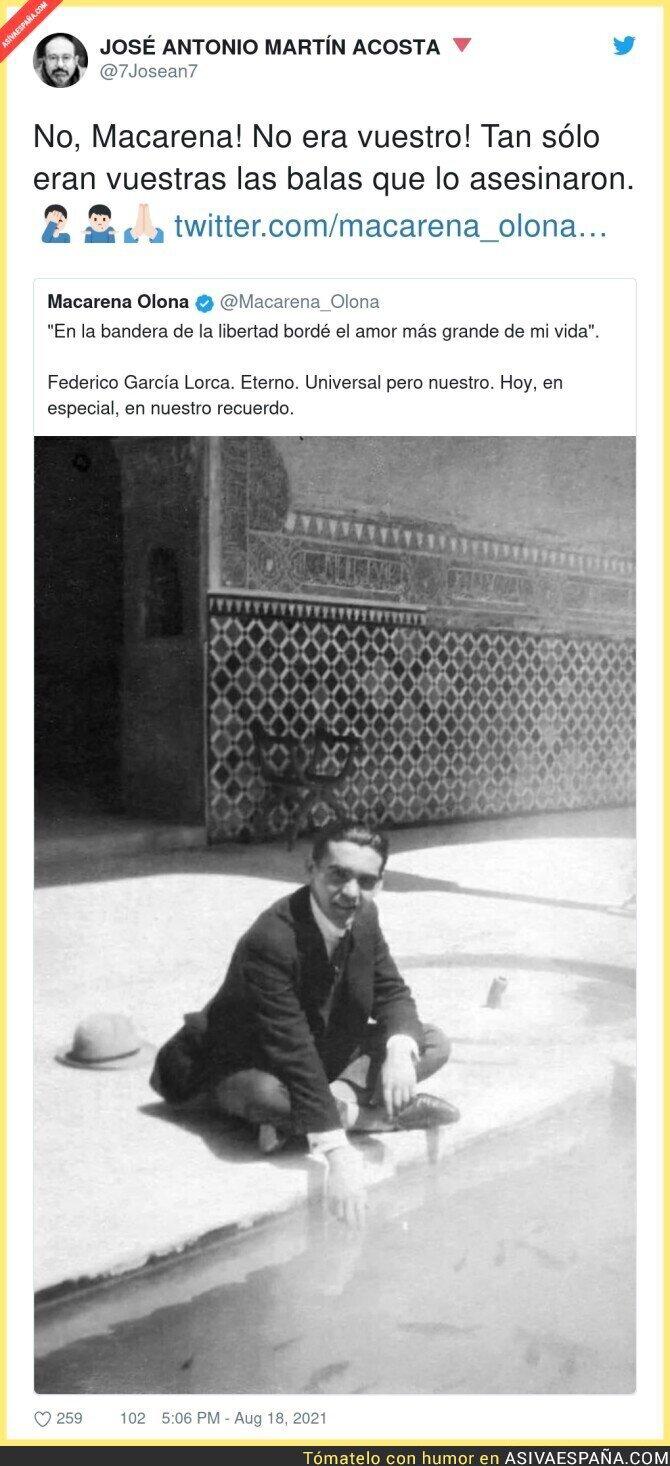 878068 - La hipocresía máxima de Macarena Olona (VOX) recordando a Federico García Lorca