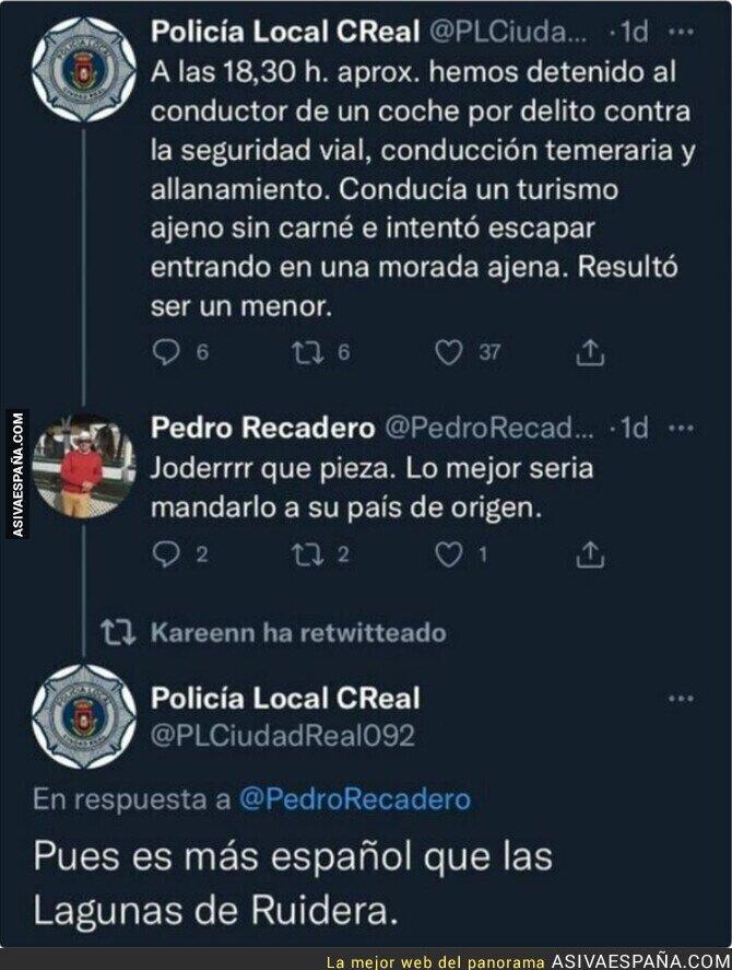881343 - La Policía Local de Ciudad Real se la saca del estadio por completo al responderle así a un ciudadano racista
