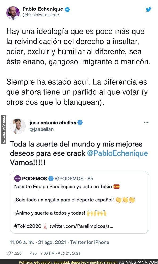 881889 - Este es el nivel de la ultraderecha intentando humillar a Pablo Echenique con estos tuits sobre los Juegos Paralímpicos
