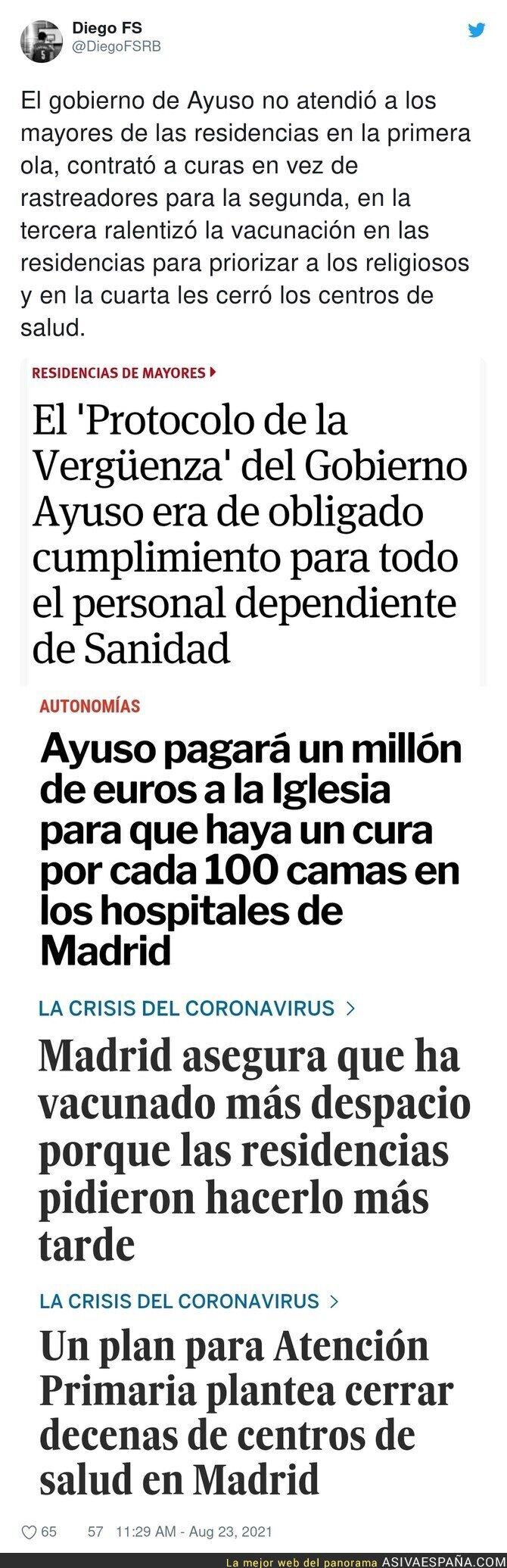 883382 - Cronología de la gestión de Isabel Díaz Ayuso en Madrid durante la pandemia que debería terminar con varios en la cárcel