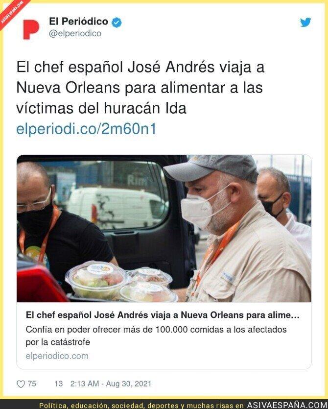 890367 - Increíble la labor y la gran imagen a España que da siempre José Andrés