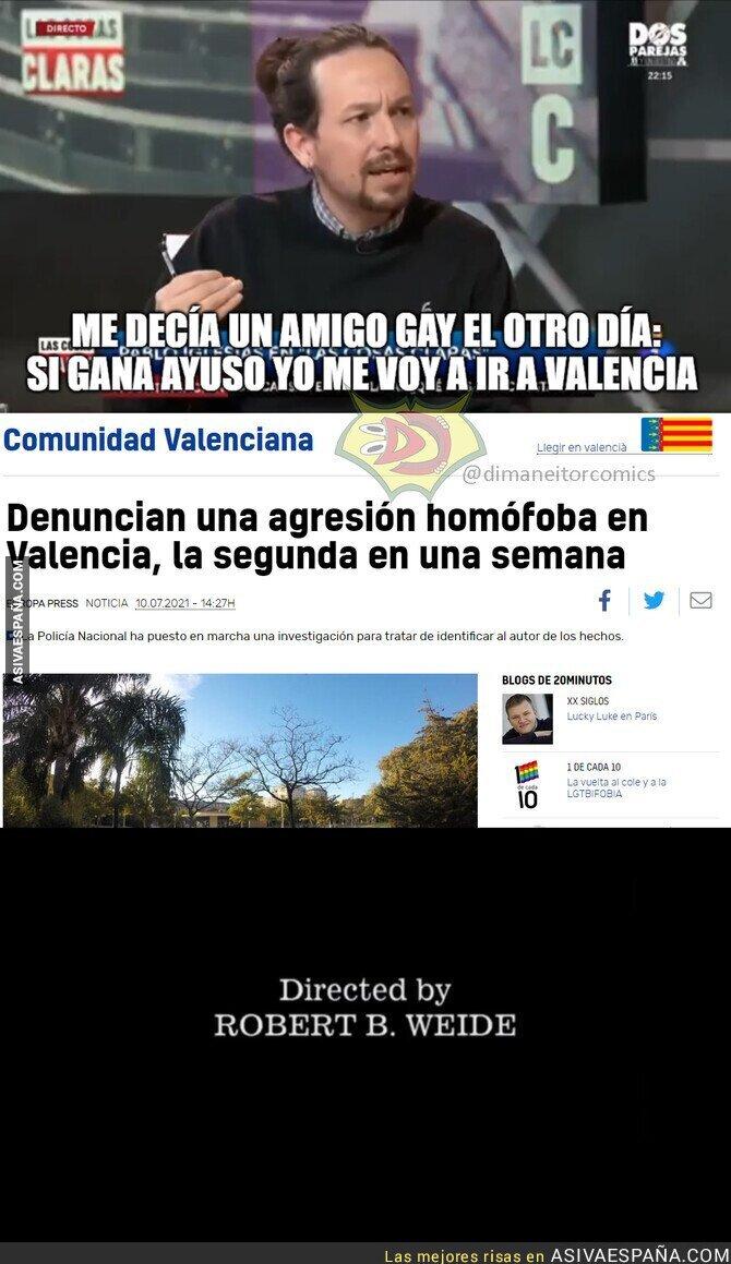 901718 - El amigo gay de Pablo Iglesias se fue a vivir a Valencia y recibió una paliza