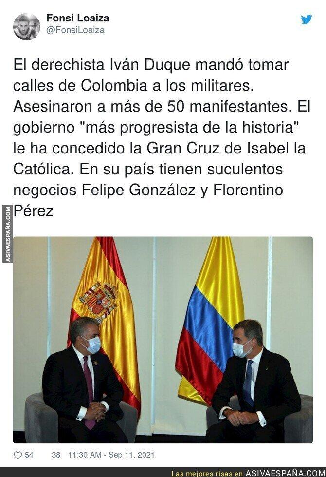 903614 - Los intereses de España con Colombia