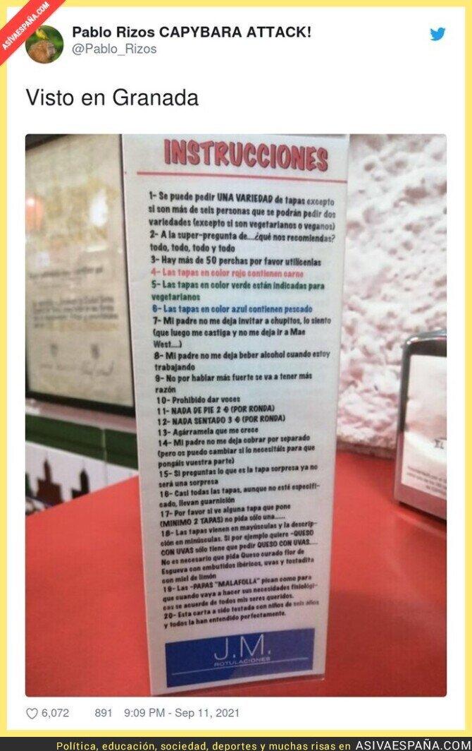 906258 - Las instrucciones de este bar están dando la vuelta al país por lo random que son, por @Pablo_Rizos