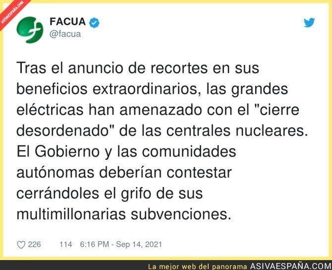 906499 - Las eléctricas amenazan al gobierno, por @facua