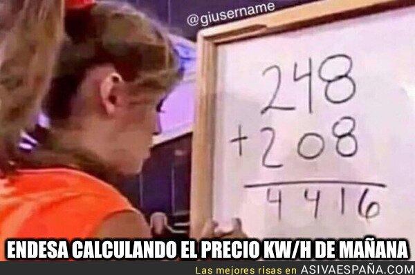907519 - Endesa calculando el precio kw/h de mañana, por @Borjarodrigo
