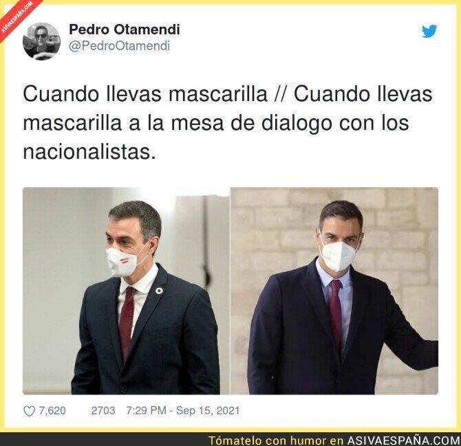 908466 - Al presidente del Gobierno de España, le sobra la bandera del país que preside. ¿Qué tipo de presidente es?, por @PedroOtamendi