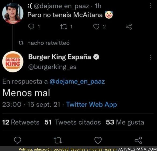 909350 - Me siento muy Burger King en la vida, por @TVSALSEO