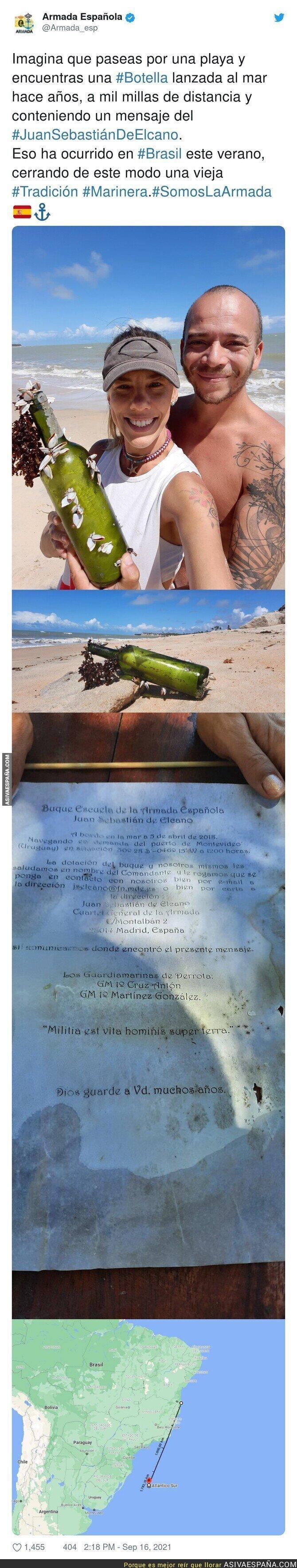 909866 - Una bonita historia al encontrar una botella con un mensaje en su interior