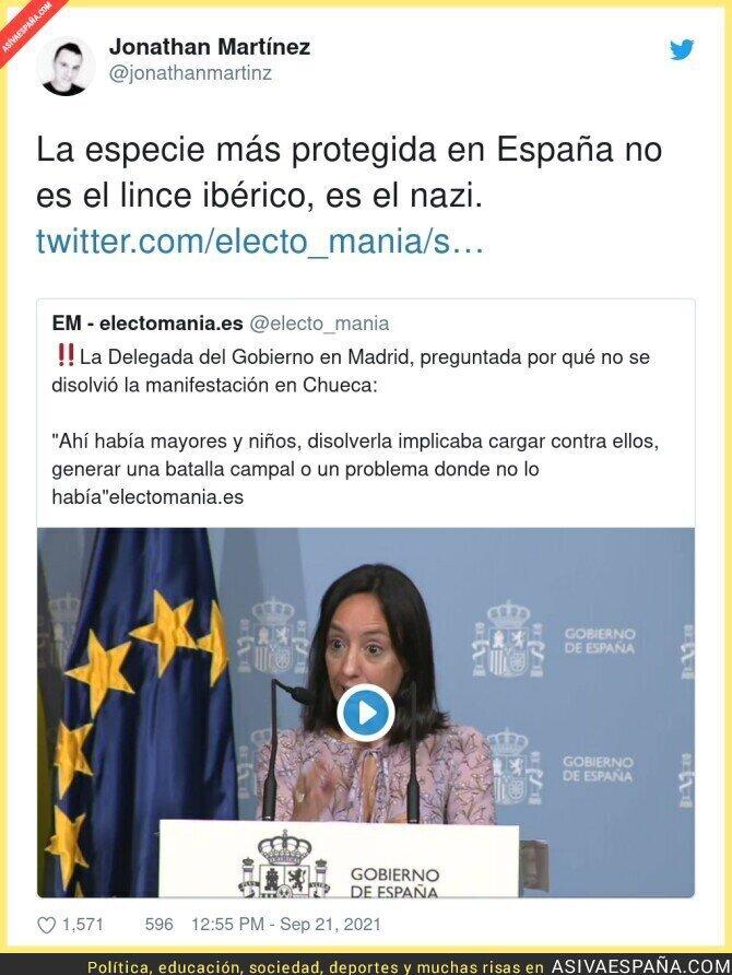 913929 - No se puede actuar contra los nazis en España