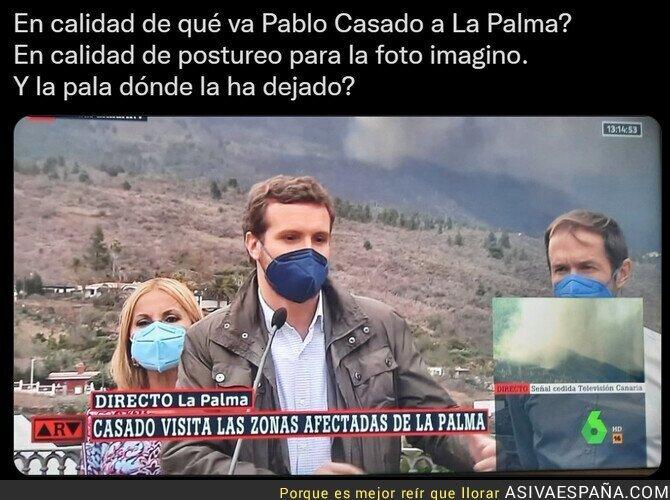915863 - ¿Alguien sabe qué pinta Pablo Casado en La Palma?